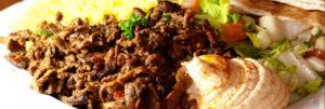 DONAIRS & SHAWARMA PLATTERS (Served With Rice, Hummus & Salad)
